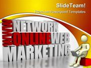 Online Marketing Business PowerPoint Templates And PowerPoint Backgrou