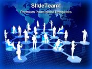Online Network Community People PowerPoint Templates And PowerPoint Ba