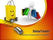 Online Shopping Mouse PowerPoint Templates And PowerPoint Backgrounds