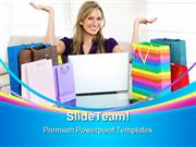 Online Shopping Sales PowerPoint Templates And PowerPoint Backgrounds