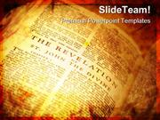 Open Bible The Revelation Religion PowerPoint Templates And PowerPoint