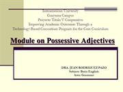 module_possessive_adjectives