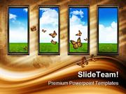 Open The Windows Nature PowerPoint Templates And PowerPoint Background