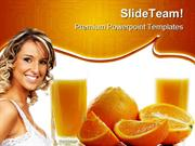 Orange Juice Health PowerPoint Templates And PowerPoint Backgrounds pp