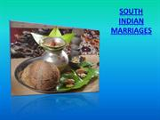 South Indian marriages
