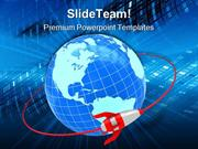 Orbit Global Network PowerPoint Templates And PowerPoint Backgrounds p