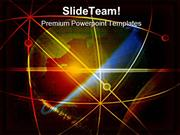 Orbit With Globe Abstract PowerPoint Themes And PowerPoint Slides ppt
