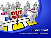 Out Sourced Metaphor PowerPoint Templates And PowerPoint Backgrounds p