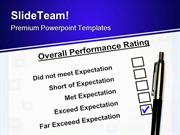 Overall Performance Rating Business PowerPoint Themes And PowerPoint S
