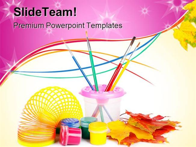 paint fun art powerpoint templates and powerpoint backgrounds ppt, Modern powerpoint