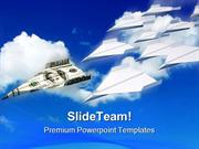 Paper Airplanes Money PowerPoint Templates And PowerPoint Backgrounds