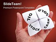 Paper Fortune Teller Business PowerPoint Templates And PowerPoint Back