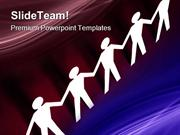 Paper Team Unity Global PowerPoint Templates And PowerPoint Background