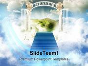 Paradise In Sky Religion PowerPoint Templates And PowerPoint Backgroun