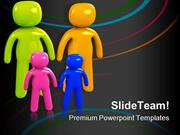 Parents And Children Family PowerPoint Themes And PowerPoint Slides pp