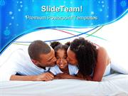 Parents With Daughter Family PowerPoint Themes And PowerPoint Slides p