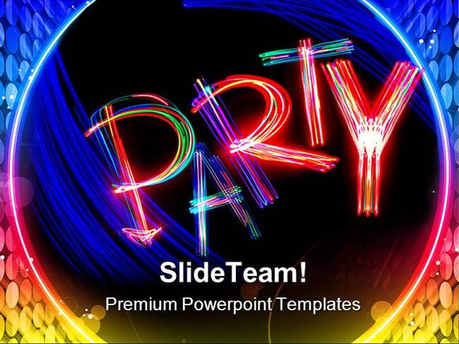 Party Entertainment Powerpoint Templates And Powerpoint Background