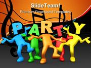 Party People Lifestyle PowerPoint Templates And PowerPoint Backgrounds