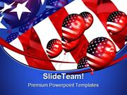 Patriotic Balloons Americana PowerPoint Templates And PowerPoint Backg