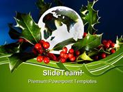 Peace On Earth Christmas Festival PowerPoint Templates And PowerPoint