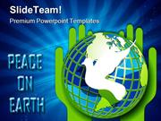 Peace On Earth Globe PowerPoint Templates And PowerPoint Backgrounds p