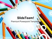 Pencils Education PowerPoint Templates And PowerPoint Backgrounds ppt