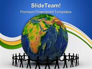 People Around Globe Communication PowerPoint Templates And PowerPoint
