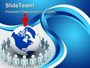 People Around Globe Leadership PowerPoint Templates And PowerPoint Bac