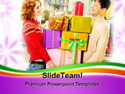 People Enjoying Shopping Lifestyle PowerPoint Templates And PowerPoint