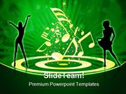 People Celebrating Music PowerPoint Templates And PowerPoint Backgroun