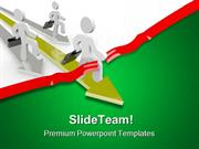 People Race Across Business PowerPoint Templates And PowerPoint Backgr