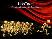 People Running Leadership PowerPoint Templates And PowerPoint Backgrou
