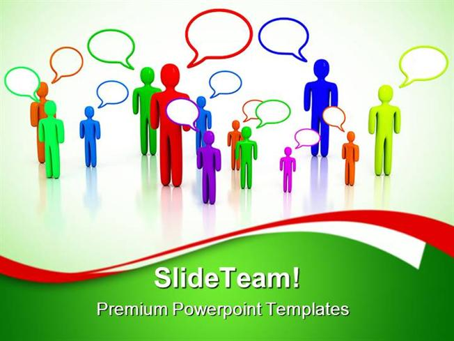 people talking communication powerpoint templates and powerpoint b, Modern powerpoint