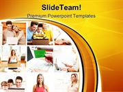 People With Laptop Computer PowerPoint Templates And PowerPoint Backgr