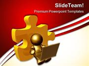 Person Browsing Securely Internet PowerPoint Themes And PowerPoint Sli