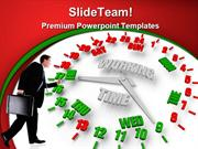 Person Looking Work Week Clock Business PowerPoint Templates And Power