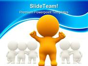 Person Standing Out Leadership PowerPoint Templates And PowerPoint Bac