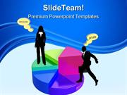Pie Chart Business Success PowerPoint Templates And PowerPoint Backgro