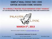 Tuesday March 5th Prayerlink