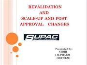 Revalidation and SUPAC