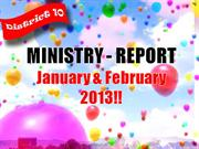MINISTRY ACCOMPLISHMENTS