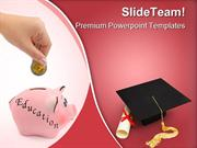 Piggy Bank Education PowerPoint Templates And PowerPoint Backgrounds p