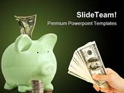 Piggy Bank Saving Future PowerPoint Themes And PowerPoint Slides ppt l