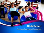 Pilates Class Gym Health PowerPoint Templates And PowerPoint Backgroun