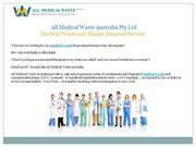 Medical Waste and  Sharps Disposal Service