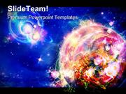 Planet Is In The Flowers Globe PowerPoint Themes And PowerPoint Slides
