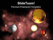 Planets In Space Geographical PowerPoint Templates And PowerPoint Back
