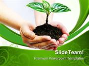 Plant In Hands Environment PowerPoint Themes And PowerPoint Slides ppt