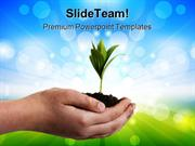 Plant In Hands Nature PowerPoint Templates And PowerPoint Backgrounds