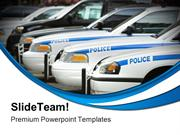 Police Cars Government PowerPoint Templates And PowerPoint Backgrounds